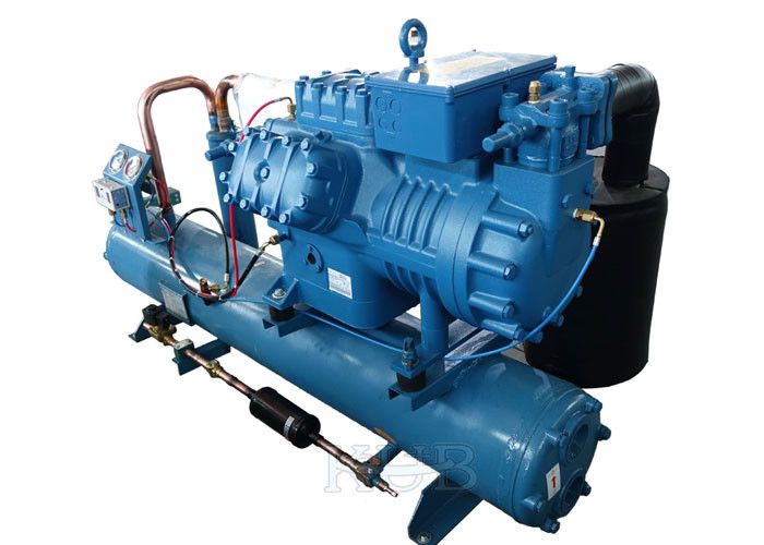 R404A Z30 126Y Water Cooled Condensing Units Large Volume Frascold Compressor Good Sealing