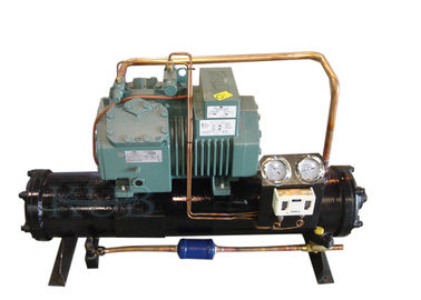 4DES-5Y Water Cooling Unit , Semi Enclosed Compressor Water Condensing Unit 5HP Long Lifespan